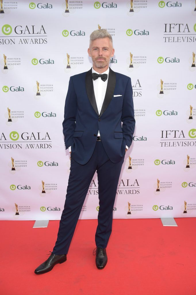 Des Bishop arriving on the red carpet for the IFTA Gala Television Awards 2018 at the RDS. Photo by Michael Chester