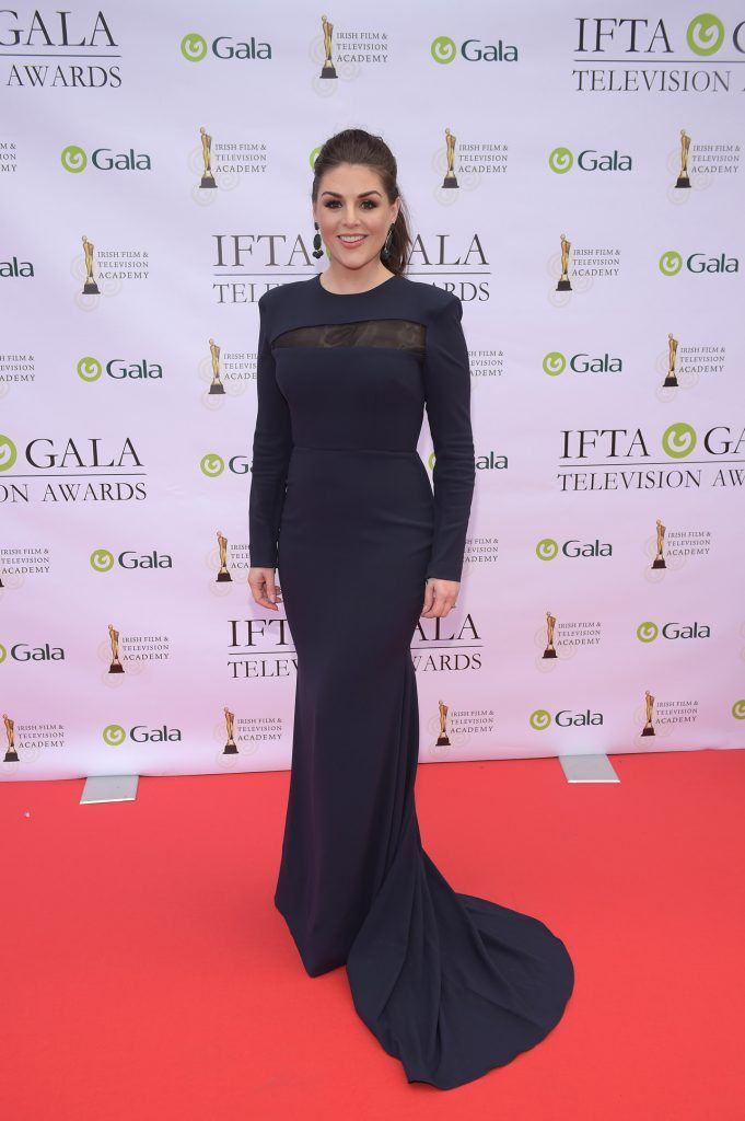 Sile Seoige arriving on the red carpet for the IFTA Gala Television Awards 2018 at the RDS. Photo by Michael Chester