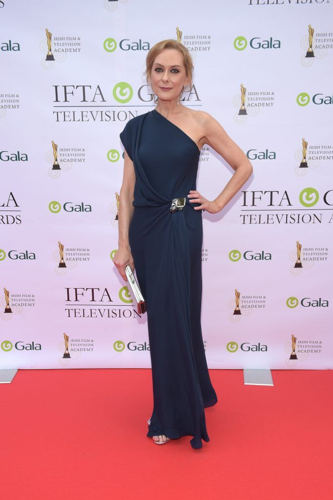 Cathy Belton arriving on the red carpet for the IFTA Gala Television Awards 2018 at the RDS. Photo by Michael Chester