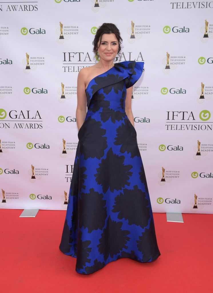Colette Fitzpatrick arriving on the red carpet for the IFTA Gala Television Awards 2018 at the RDS. Photo by Michael Chester