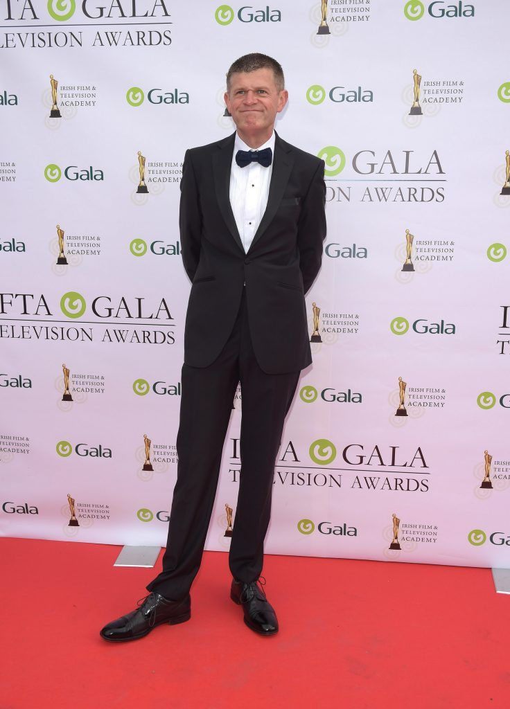 Brendan O'Connor arriving on the red carpet for the IFTA Gala Television Awards 2018 at the RDS. Photo by Michael Chester