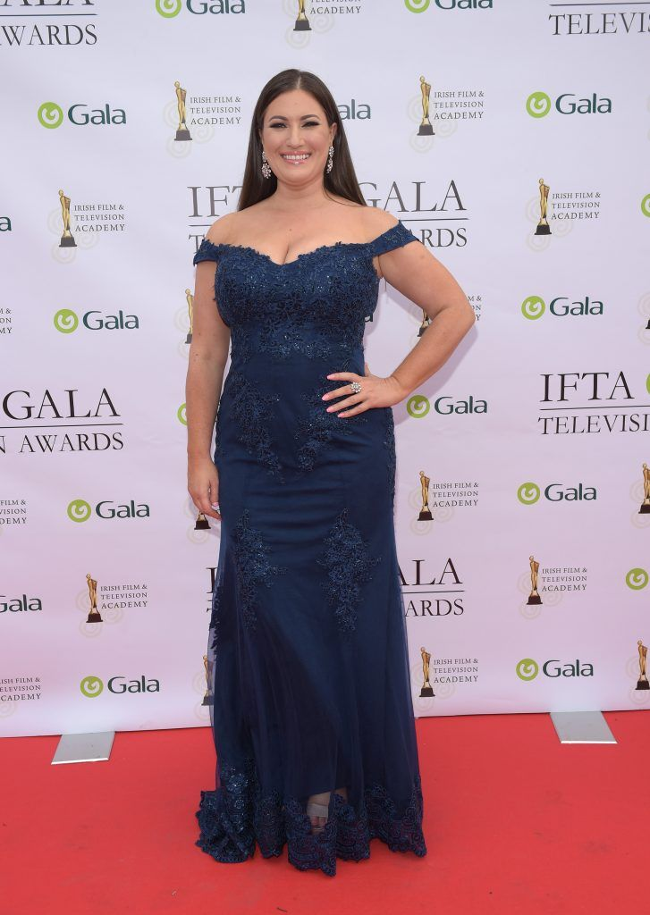 Elaine Crowley arriving on the red carpet for the IFTA Gala Television Awards 2018 at the RDS. Photo by Michael Chester