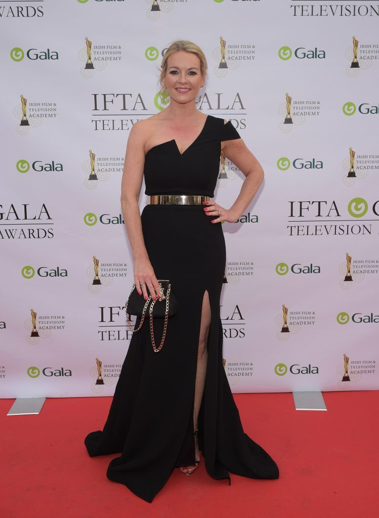 Claire Byrne arriving on the red carpet for the IFTA Gala Television Awards 2018 at the RDS. Photo by Michael Chester