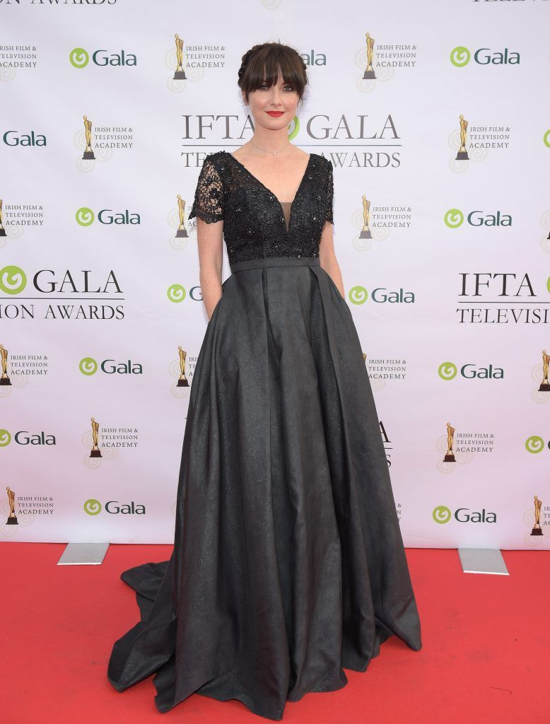 Jennifer Zamparelli arriving on the red carpet for the IFTA Gala Television Awards 2018 at the RDS. Photo by Michael Chester