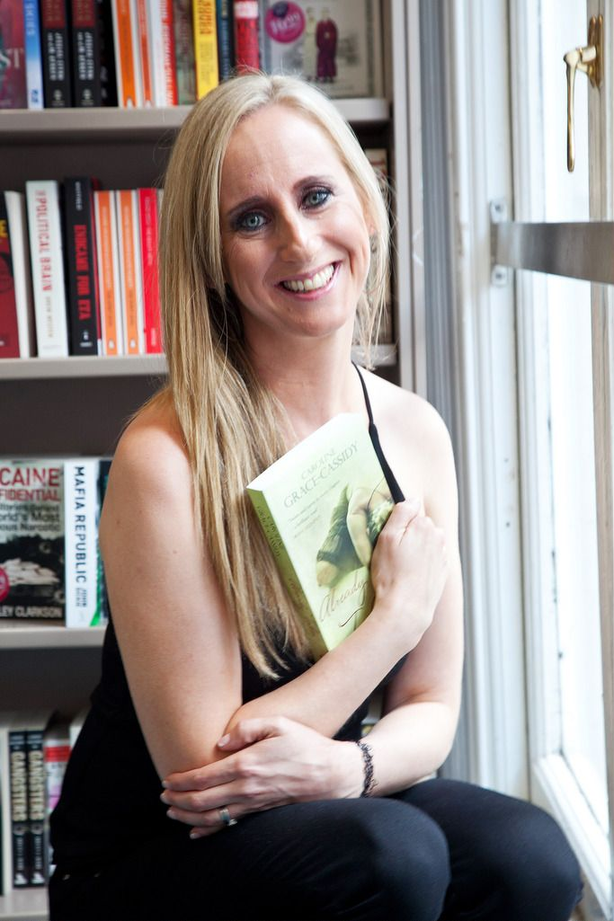 Paul Sherwood Photography © 2015 Launch of Caroline Grace Cassidy's book 'Already Taken' held in Dubray books, Grafton Street, Dublin. July 2015. Pictured - Caroline Grace Cassidy, with her new book 'Already Taken'