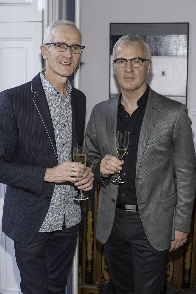 Paul Fanning & Geoff Costello pictured at the launch of the Cliff Town House Oyster Festival on Stephen's Green D2. Photo: Anthony Woods.