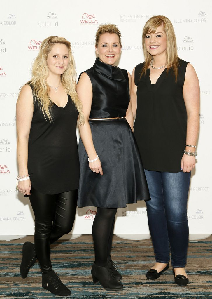 Alicia Westcott, Siobhan Costello and Annemarie Flannery at the Wella TrendVision Awards show 2014 held in the Double Tree Hilton Hotel Dublin-photo Kieran Harnett