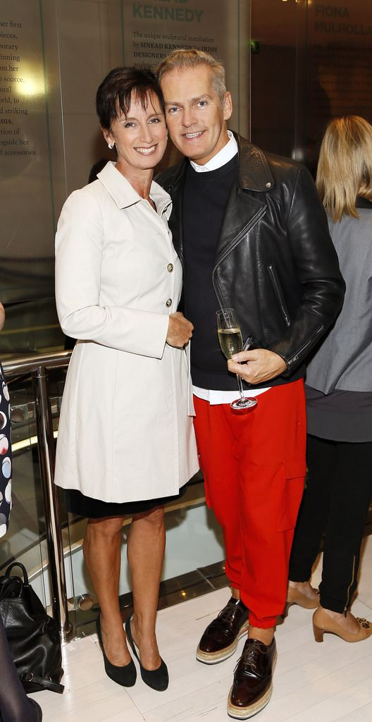 Sharon Donnelly and John Redmond at the launch of the 4th Irish Designers CREATE in Brown Thomas Dublin-photo Kieran Harnett