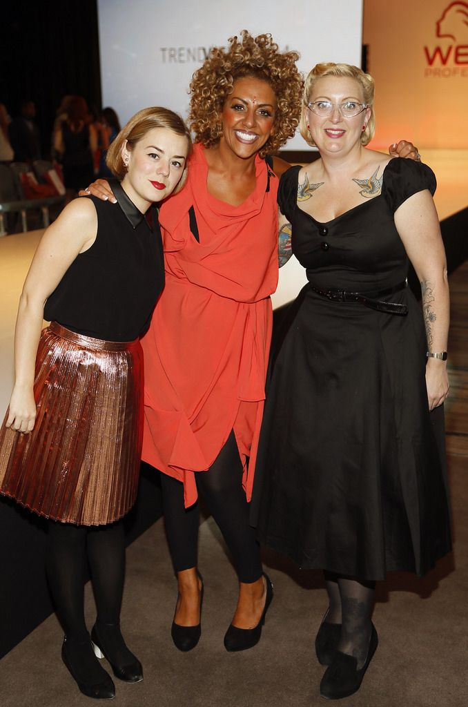 Judges Caroline Spencer, Jamilla Paul and Fay Turner at the Wella TrendVision Awards show 2014 held in the Double Tree Hilton Hotel Dublin-photo Kieran Harnett