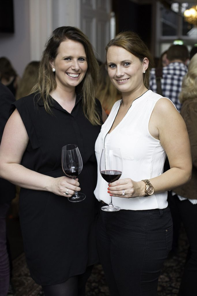 Hilary & Jill Hughes pictured at the launch of the Cliff Town House Oyster Festival on Stephen's Green D2. Photo: Anthony Woods.