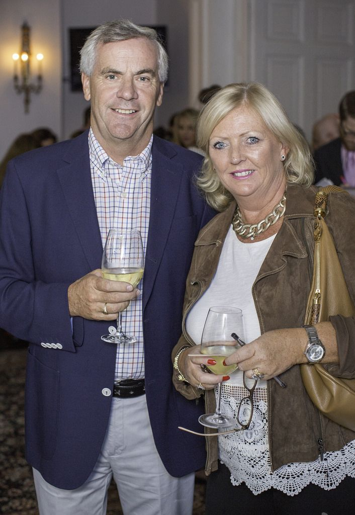 Tom & Maria Callinan pictured at the launch of the Cliff Town House Oyster Festival on Stephen's Green D2. Photo: Anthony Woods.