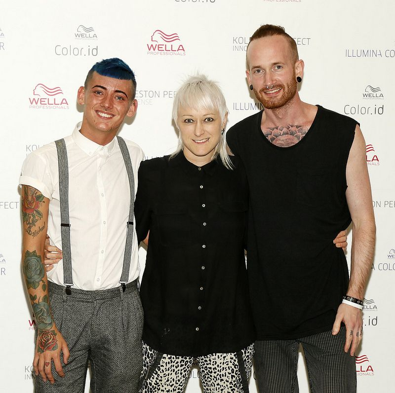 Jordan Dunbar, Tamar Chambers and Aaron Keegan at the Wella Professionals TrendVision Award 2014 show at the DoubleTree by Hilton-photo Kieran Harnett