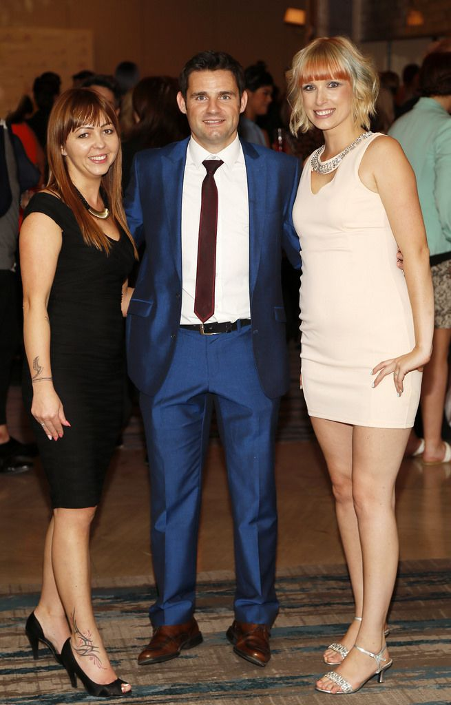 Ursula Ocibpka, Brian Maloney and Sylvia Tomos at the Wella Professionals TrendVision Award 2014 show at the DoubleTree by Hilton-photo Kieran Harnett