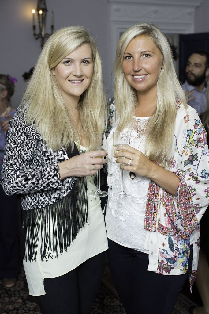 Jenny & Sarah Jane Donnelly  pictured at the launch of the Cliff Town House Oyster Festival on Stephen's Green D2. Photo: Anthony Woods.