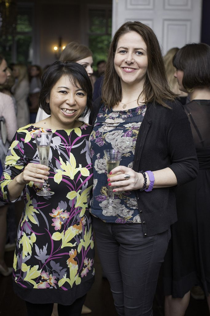 Eriko Matsumoto & Breena McCormick pictured at the launch of the Cliff Town House Oyster Festival on Stephen's Green D2. Photo: Anthony Woods.