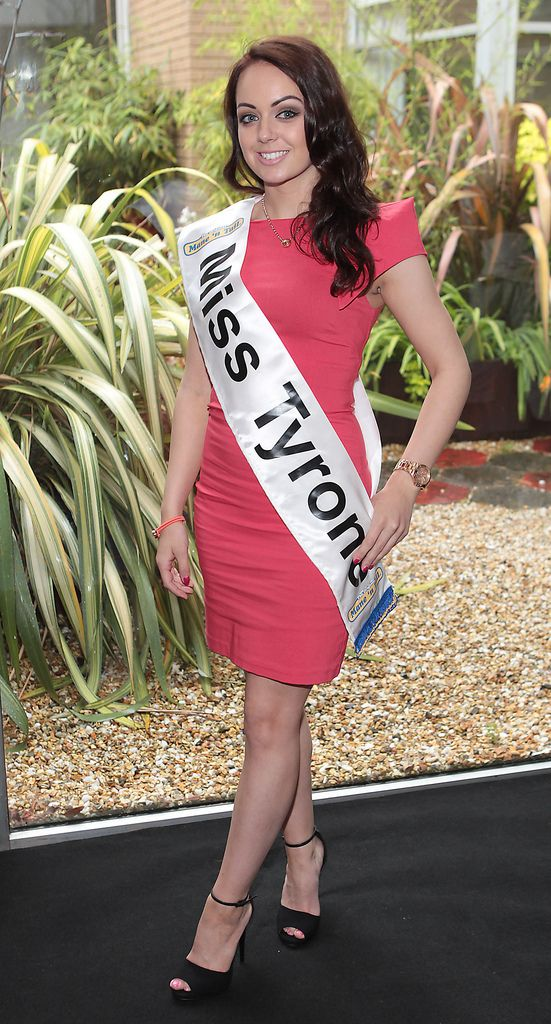 The Final Countdown for Miss Ireland 2014 has officially begun!!..Miss Tyrone- Aisling Dougan Cleary: 20 year old Aisling just finished her degree in Psychology from University of Ulster and is currently working part time in a local newsagent. She likes to keep fit with boot camp classes and has a keen interest in make- up, having recently completed a course in this. She loves to dance and studied tap when she was younger. She worked in Romania in an orphanage in 2010...This morning saw all 36 Finalists for the Miss Ireland 2014  in association with Mane n' Tail pageant come together in the Ballsbridge Hotel to kick off the Finale of the competition. Amongst this dazzling array of beautiful ladies awaits the one who will tomorrow evening be crowned Miss Ireland 2014...The lucky girl will be selected at the Gala Final in the Ballsbridge Hotel by the esteemed panel of judges, with highlights of the evening to include a casino for all guests in attendence and a performance by singer/ songwriter and former Ireland representative at the Eurovision, Ryan Dolan...Picture:Brian McEvoy.