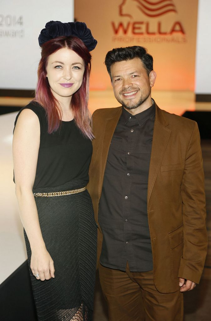 Judges Laura Kinsella and Kai Wan at the Wella Professionals TrendVision Award 2014 show at the DoubleTree by Hilton-photo Kieran Harnett