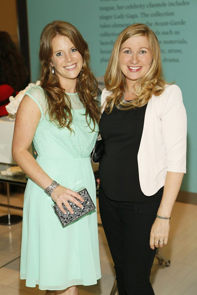 Grainne Smith and Sarah Bennett at the launch of the 4th Irish Designers CREATE in Brown Thomas Dublin-photo Kieran Harnett