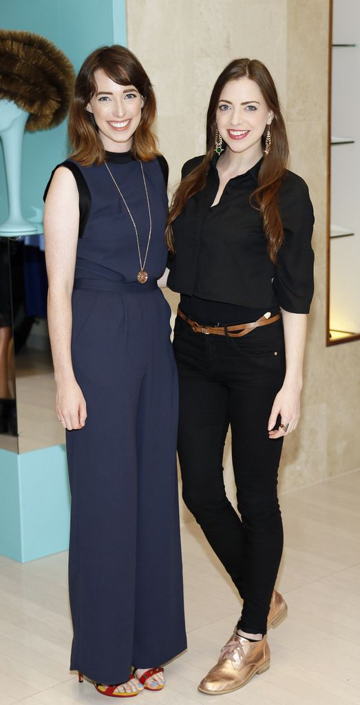 Ciara O'Doherty and Niamh Geaney at the launch of the 4th Irish Designers CREATE in Brown Thomas Dublin-photo Kieran Harnett