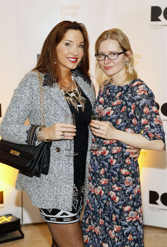 Catherine Bailey and Aga Bolek at the Robert Chambers 40th anniversary celebrations at their newly refurbished salon on Grafton Street-photo Kieran Harnett