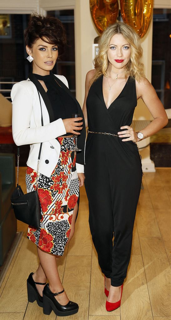Victoria Cranley and Leigh Ann Verdon at the Robert Chambers 40th anniversary celebrations at their newly refurbished salon on Grafton Street-photo Kieran Harnett