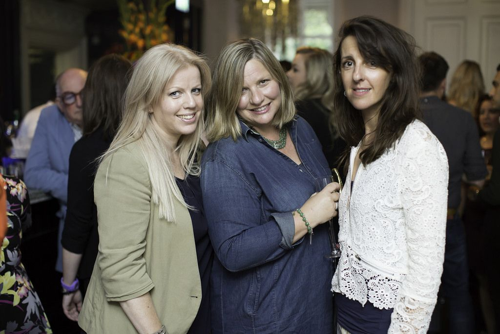 Katharine Crawford, Noreen McDonough & Norma Egan pictured at the launch of the Cliff Town House Oyster Festival on Stephen's Green D2. Photo: Anthony Woods.