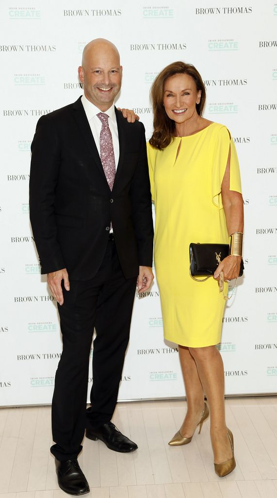 Mark Limby and Celia Holman Lee at the launch of the 4th Irish Designers CREATE in Brown Thomas Dublin-photo Kieran Harnett