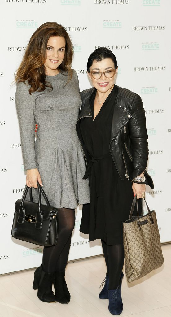 Avila Lipsett and Maria Fusco at the launch of the 4th Irish Designers CREATE in Brown Thomas Dublin-photo Kieran Harnett