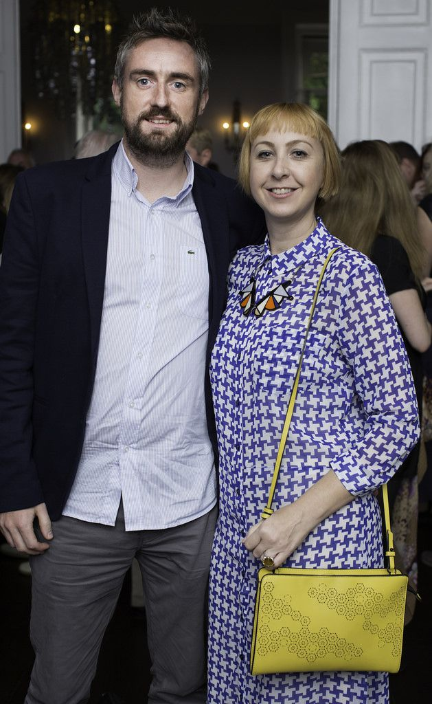 Liam Barry & Lucy White pictured at the launch of the Cliff Town House Oyster Festival on Stephen's Green D2. Photo: Anthony Woods.