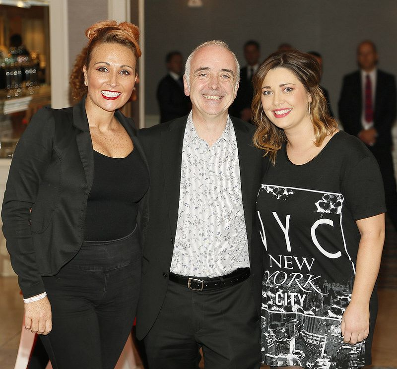Rachel Mannix, Cathal Keaveney and Suzie Dowling at the Wella Professionals TrendVision Award 2014 show at the DoubleTree by Hilton-photo Kieran Harnett