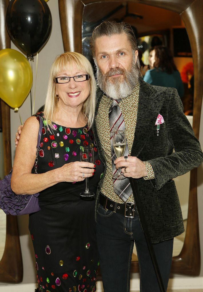 Lilian Chambers and Ger Eaton at the Robert Chambers 40th anniversary celebrations at their newly refurbished salon on Grafton Street-photo Kieran Harnett
