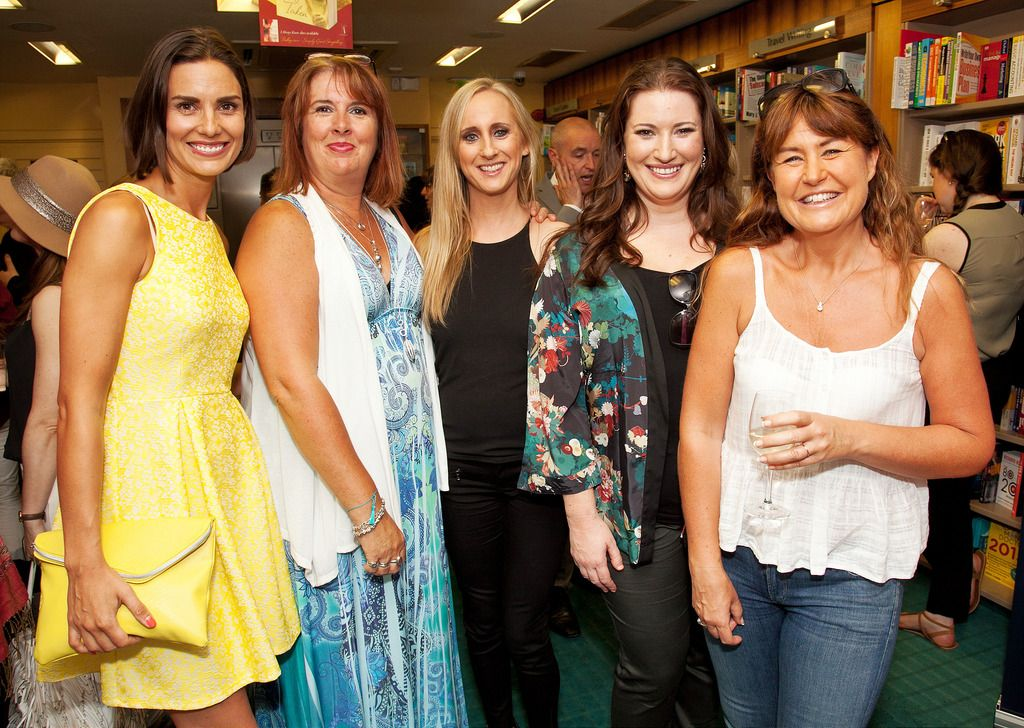 Paul Sherwood Photography © 2015 Launch of Caroline Grace Cassidy's book 'Already Taken' held in Dubray books, Grafton Street, Dublin. July 2015. Pictured - Alison Canavan, Barbara Scully, Caroline Grace Cassidy, Elaine Crowley, Fiona Looney