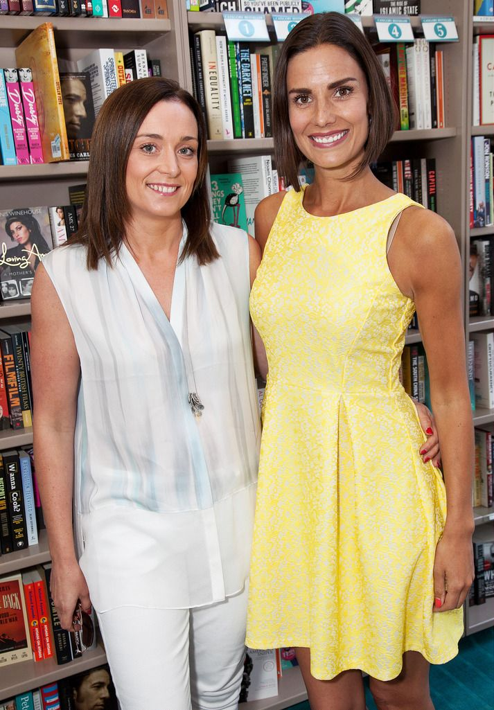 Paul Sherwood Photography © 2015 Launch of Caroline Grace Cassidy's book 'Already Taken' held in Dubray books, Grafton Street, Dublin. July 2015. Pictured - Pamela Duffy, Alison Canavan