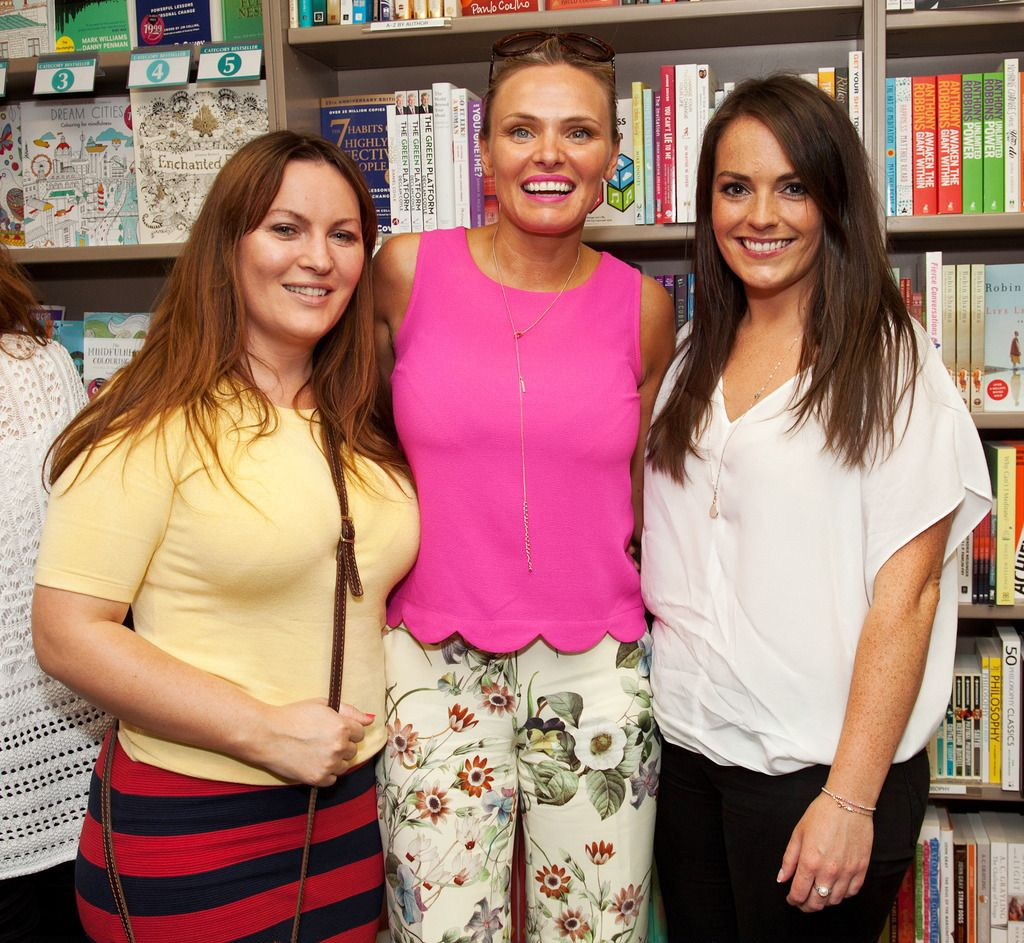 Paul Sherwood Photography © 2015 Launch of Caroline Grace Cassidy's book 'Already Taken' held in Dubray books, Grafton Street, Dublin. July 2015. Pictured - Sinead Griffin, Rachel McCann, Sarah Maune