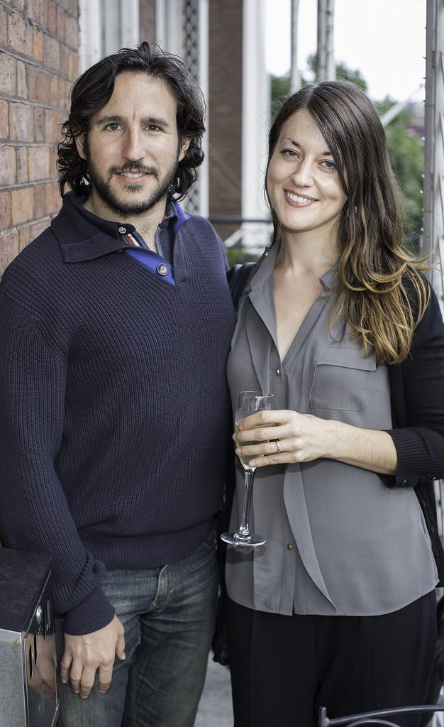 Miguel Molina & Eva Hogan pictured at the launch of the Cliff Town House Oyster Festival on Stephen's Green D2. Photo: Anthony Woods.