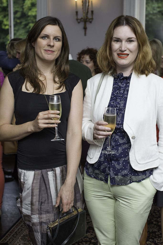 Deanna O'Connor & Jennifer King pictured at the launch of the Cliff Town House Oyster Festival on Stephen's Green D2. Photo: Anthony Woods.
