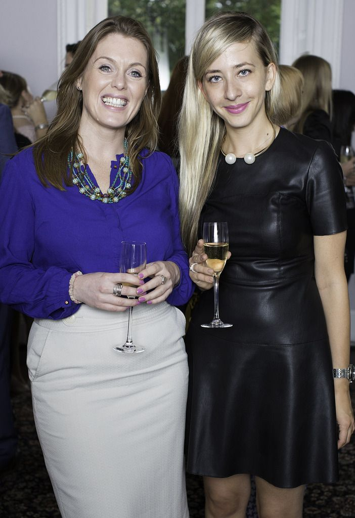 Katie Dempsey & Sylwia Dubjik pictured at the launch of the Cliff Town House Oyster Festival on Stephen's Green D2. Photo: Anthony Woods.
