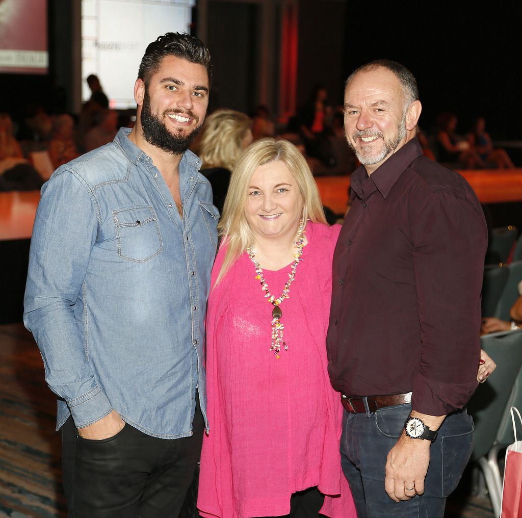 Roy Kennedy, Maeve O'Healy Harte and Liam Kennedy at the Wella Professionals TrendVision Award 2014 show at the DoubleTree by Hilton-photo Kieran Harnett