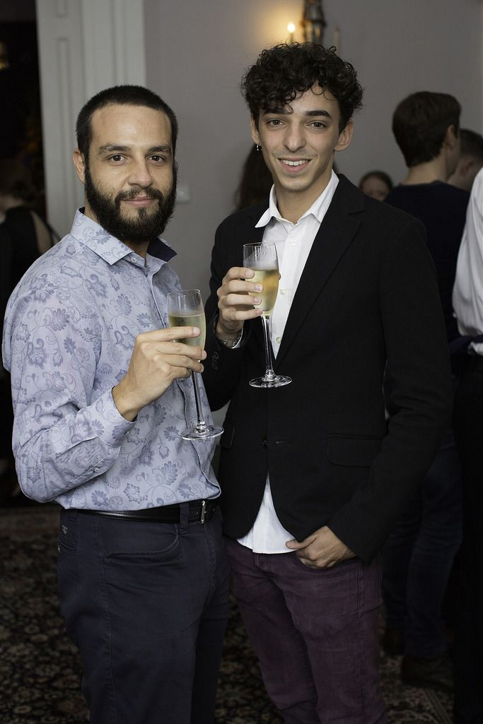 Jaime Morellia & Alvaro Rodruigez pictured at the launch of the Cliff Town House Oyster Festival on Stephen's Green D2. Photo: Anthony Woods.