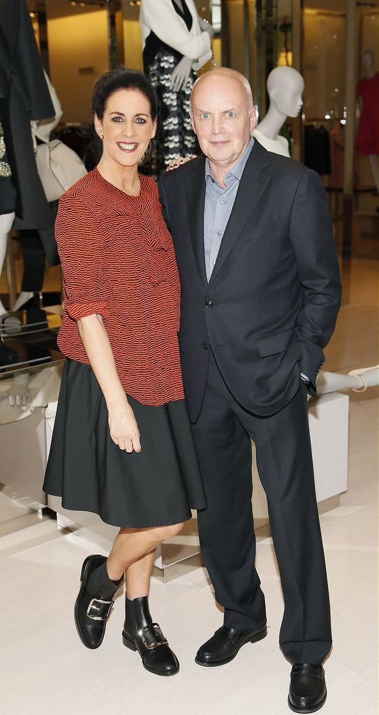 Shelly Corkery and Eddie Shanahan at the launch of the 4th Irish Designers CREATE in Brown Thomas Dublin-photo Kieran Harnett