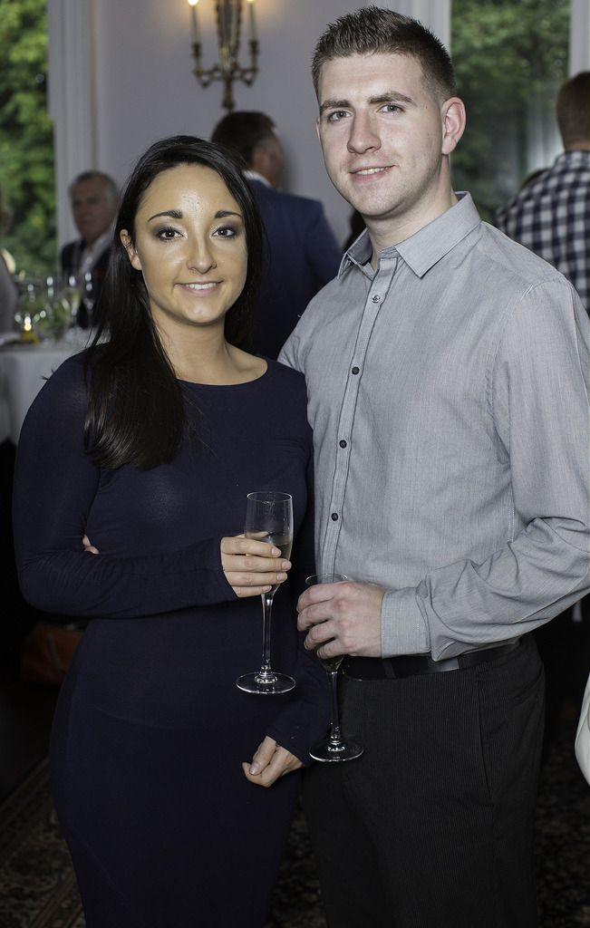 Katie Lawlor & Chris Ward pictured at the launch of the Cliff Town House Oyster Festival on Stephen's Green D2. Photo: Anthony Woods.