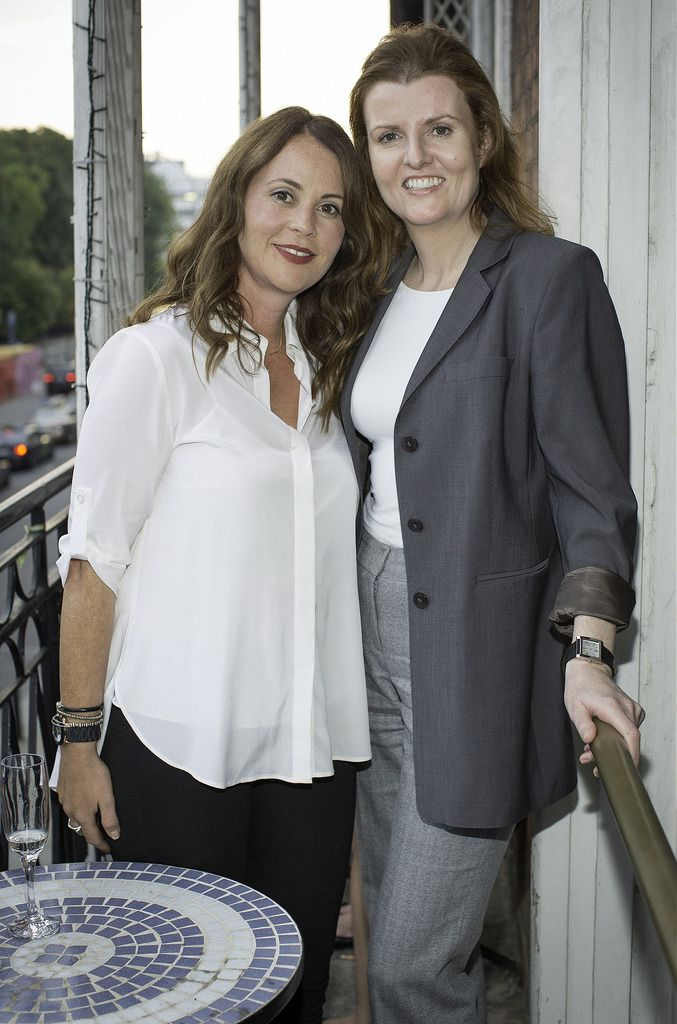 Fionnuala Lawton & Tara Farrell pictured at the launch of the Cliff Town House Oyster Festival on Stephen's Green D2. Photo: Anthony Woods.