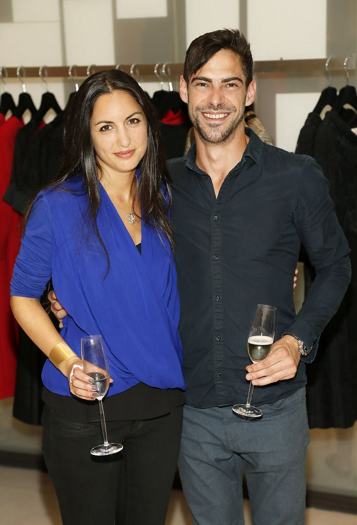 Maria Dorai-Raj and Andreas Connellan at the launch of the 4th Irish Designers CREATE in Brown Thomas Dublin-photo Kieran Harnett