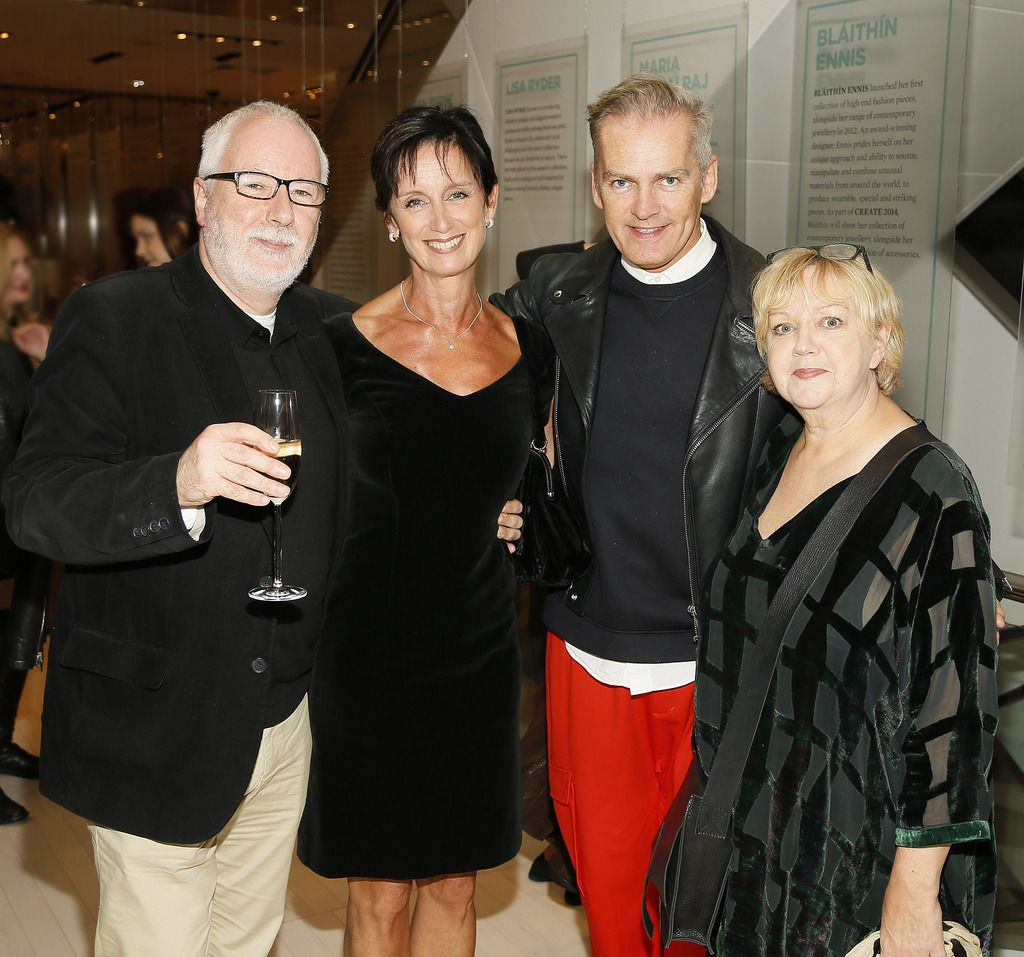 Peter O'Brien, Sharon Donnelly, John Redmond and Catherine Condell at the launch of the 4th Irish Designers CREATE in Brown Thomas Dublin-photo Kieran Harnett