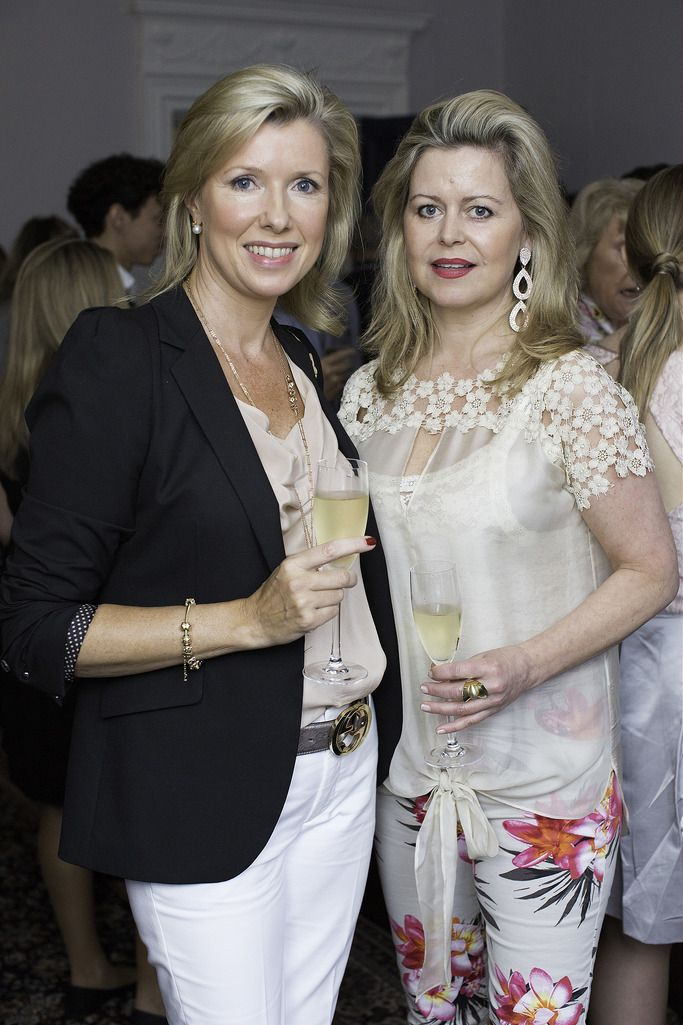 Helen Walker & Marese Corless pictured at the launch of the Cliff Town House Oyster Festival on Stephen's Green D2. Photo: Anthony Woods.