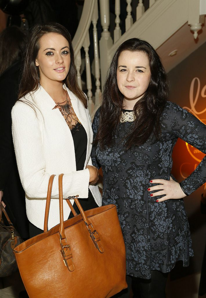 Freya Drohan and Elaine McCahill at the Robert Chambers 40th anniversary celebrations at their newly refurbished salon on Grafton Street-photo Kieran Harnett
