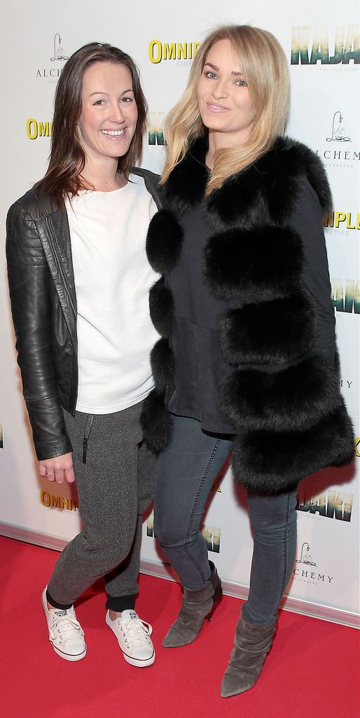 Niamh Joyce and Aoife Bushell at the Irish premiere screening of Kajaki at Omniplex in Rathmines Dublin.Picture:Brian McEvoy