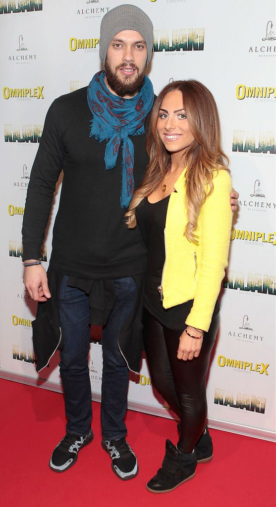 Carl Shabaan and Stephanie  Hesnan   at the Irish premiere screening of Kajaki at Omniplex in Rathmines Dublin.Picture:Brian McEvoy