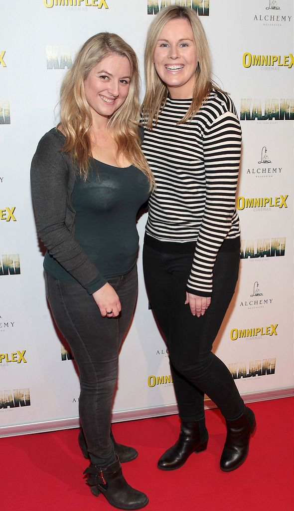 Donna McGarry and Catriona O Connor  at the Irish premiere screening of Kajaki at Omniplex in Rathmines Dublin.Picture:Brian McEvoy.