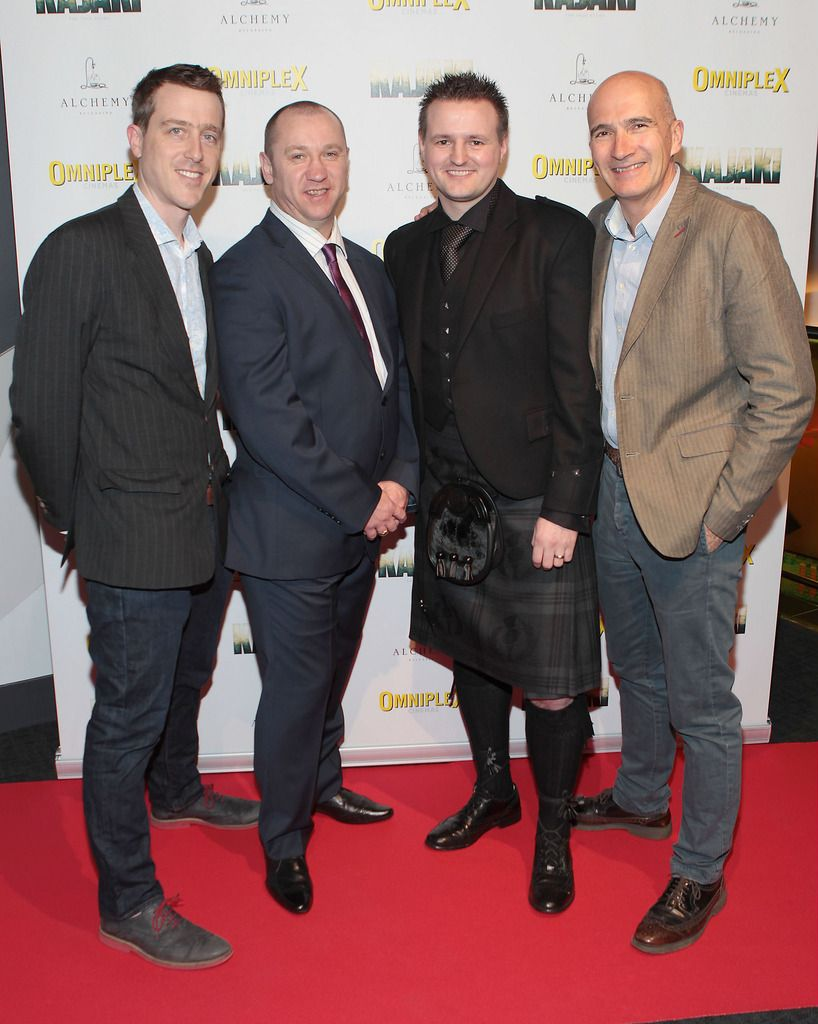 Andrew Lotbiniere ,Stuart Pearson ,Scott Kyle and Paul Katis  at the Irish premiere screening of Kajaki at Omniplex in Rathmines Dublin.Picture:Brian McEvoy